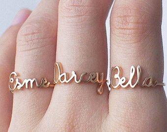 20% OFF Custom Name Ring Personalized Name от GracePersonalized