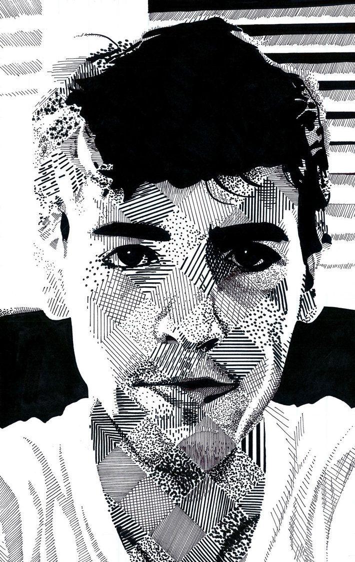 Dissolving Self-Portrait (Homage to Chuck Close) by LukeMcCready