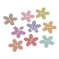 Limited Šicí příslušenství 100 kusů dřeva Šicí Tlačítka Scrapbooking Mixed Grid 5-okvětní lístky tvarů šperky DIY 20 mm (w05846 X 1)