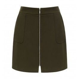 From daytime chic to evening glamour, discover our Indiana Zip Front Mini Skirt, set to be your newest wardrobe staple.