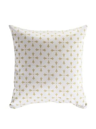 45% OFF Nine Space Rhodes Pillow Cover (Cream)