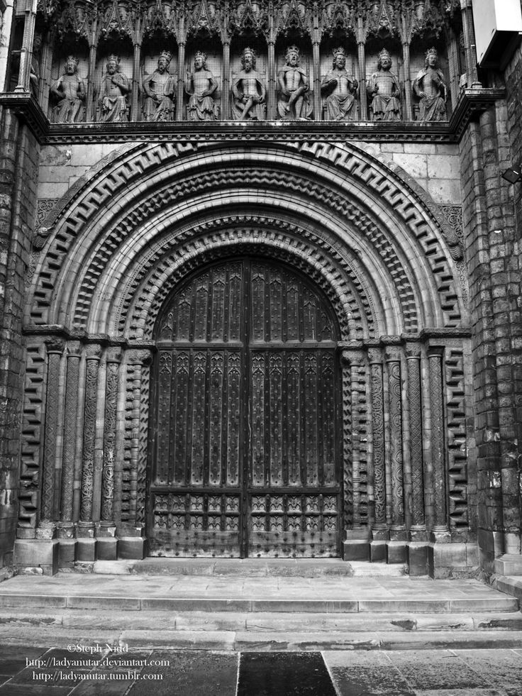 The entrance to Lincoln Cathedral
