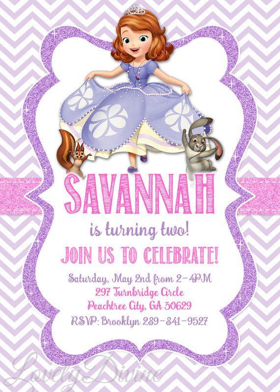 Sofía la primera invitación Sofía la primera invitación