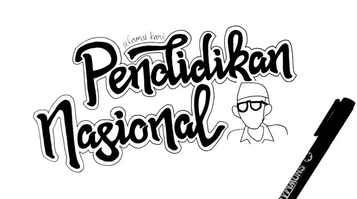 Ing ngarso sung tulodo, Ing madyo mangun karso, Tut wuri handayani.  Feature image created by creative typographer @typrist (check out her feed on instagram for more artwork)  Selamat Hari Pendidikan Nasional!