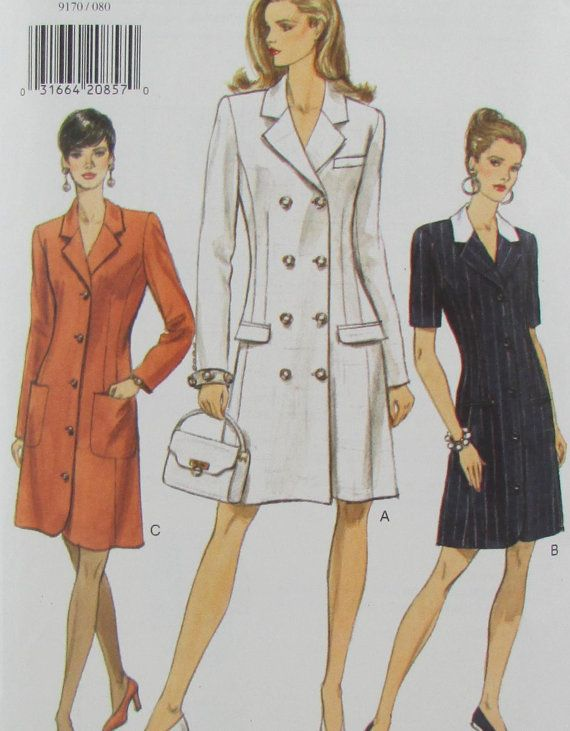 1990s Vogue 9170 Misses Dress Size 8 10 12 by SewingPatternsPast, $9.50