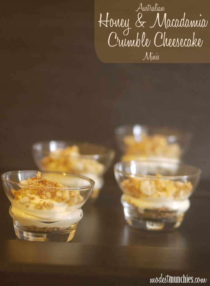 Honey and Macadamia Crumble Mini Cheesecakes