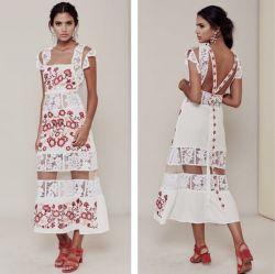 #BroideryRu #машиннаявышивка #вышивканаплатьях #платье #рукоделие #машинная_вышивка #декор