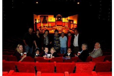 DIFFERENT seats, new carpets and colourful lights greeted visitors to Derby Theatre last week – as it reopened its doors for the first time this Autumn season following an £80,000 revamp.  Pictured are some of the opening night audience with the cast of the show 'You're Only Young Twice' included Melvyn Hayes from It Ain't Half Hot Mum. University of Derby