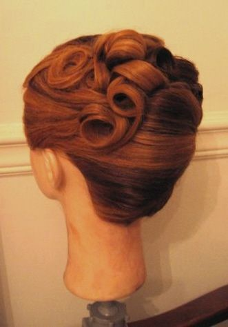 Bridesmaid Hair Curly French Twist Scrapbook French