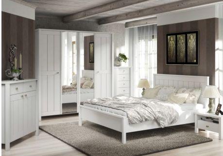 Een #landelijke #slaapkamer in een handomdraai met de 4-delige slaapkamerset van Mister Bed! Slechts €699,-