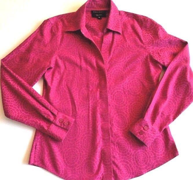 FOXCROFT Non-Iron Pink Dress Shirt Size 0P Button Down Long Sleeves Career Work #Foxcroft #ButtonDownShirt #Career