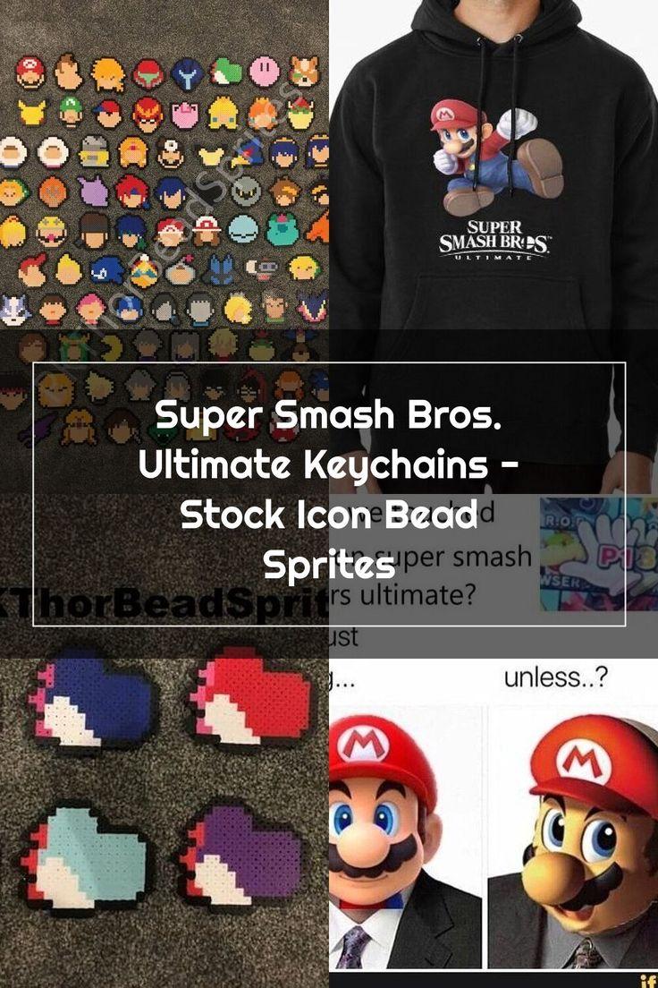 Super Smash Bros. Ultimate Keychains Stock Icon Bead
