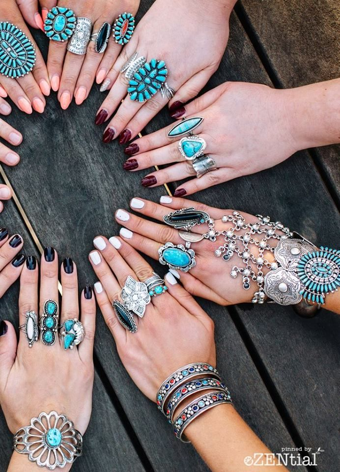 Soooo pretty you can mix these patterns rings into boho sliver jewerlies