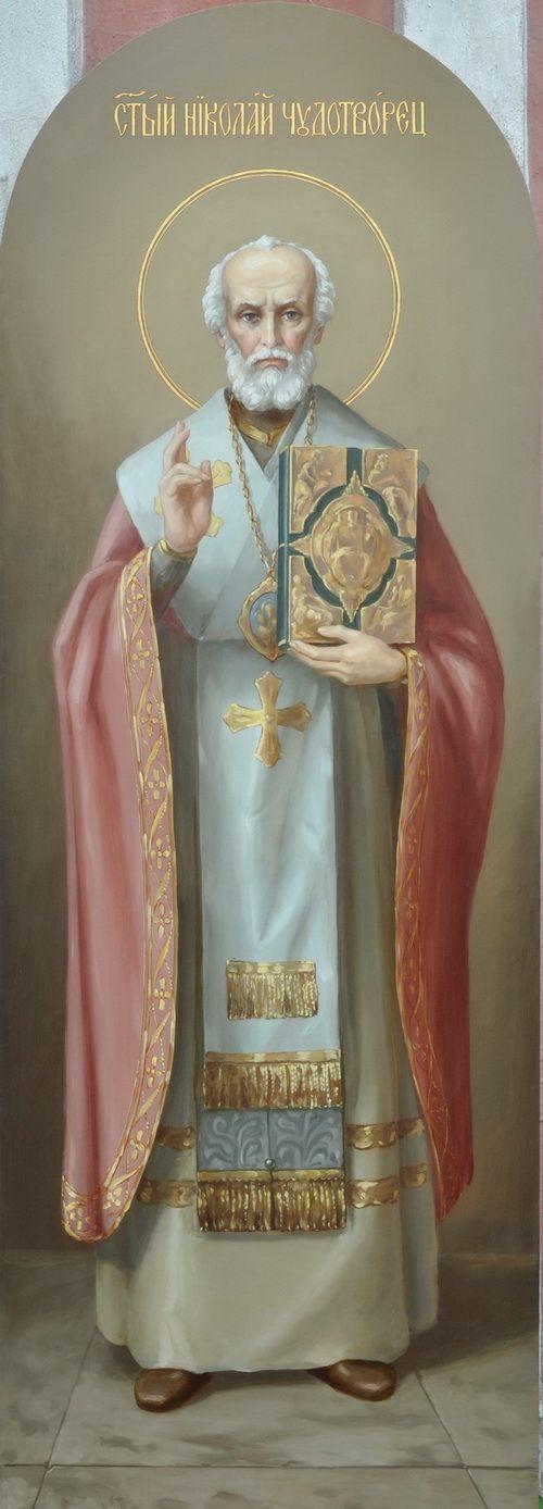 Икона - Святой Николай Чудотворец. Святитель Николай жил в IV веке и был архиепископом в Малой Азии, в Ликийском городе Миры.