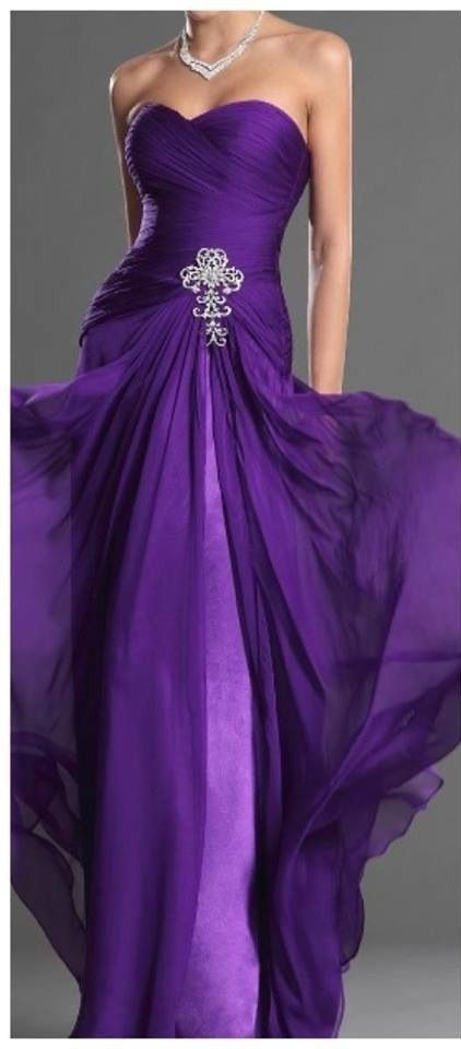 purple dress. my favorite color. Love this as an option for 25th Anniversary Party