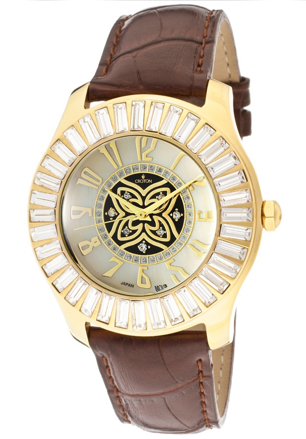 Price:$55.07 #watches Croton CN207394YLCH, With a royal appeal, this Croton timepiece has a regal design and adds a refined look to your wardrobe.