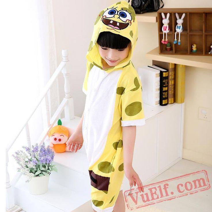 Spongebob Onesie Pajamas - Summer Kids Kigurumi Onesies