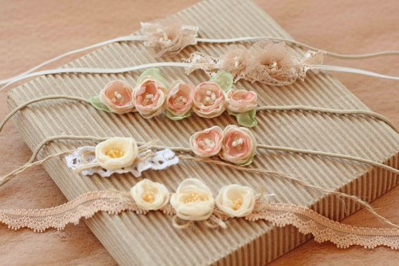 Baby Headband New born Headband Natural headband Baby accessories by ZeLady
