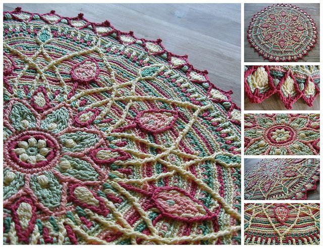 Sunrise overlay crochet mandala | Flickr - Photo Pattern Link : http://www.ravelry.com/patterns/library/crochet-overlay-mandala-no-5-pattern-pdf