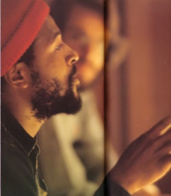 Marvin Gaye - love how the focus is on Marvin, but the guy is present in a blurred caption.