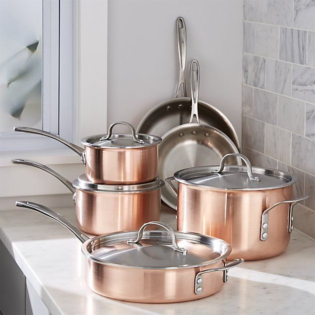 Mint And Copper Kitchen Cookware