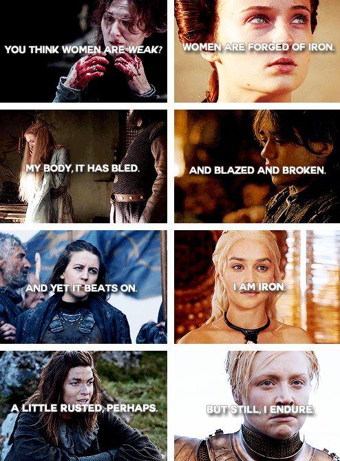 Game of Thrones ladies + iron