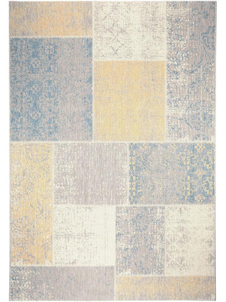 benuta In- & Outdoor Teppich Star Patchwork: Vintage Patchwork Design in sommerlichen Farben