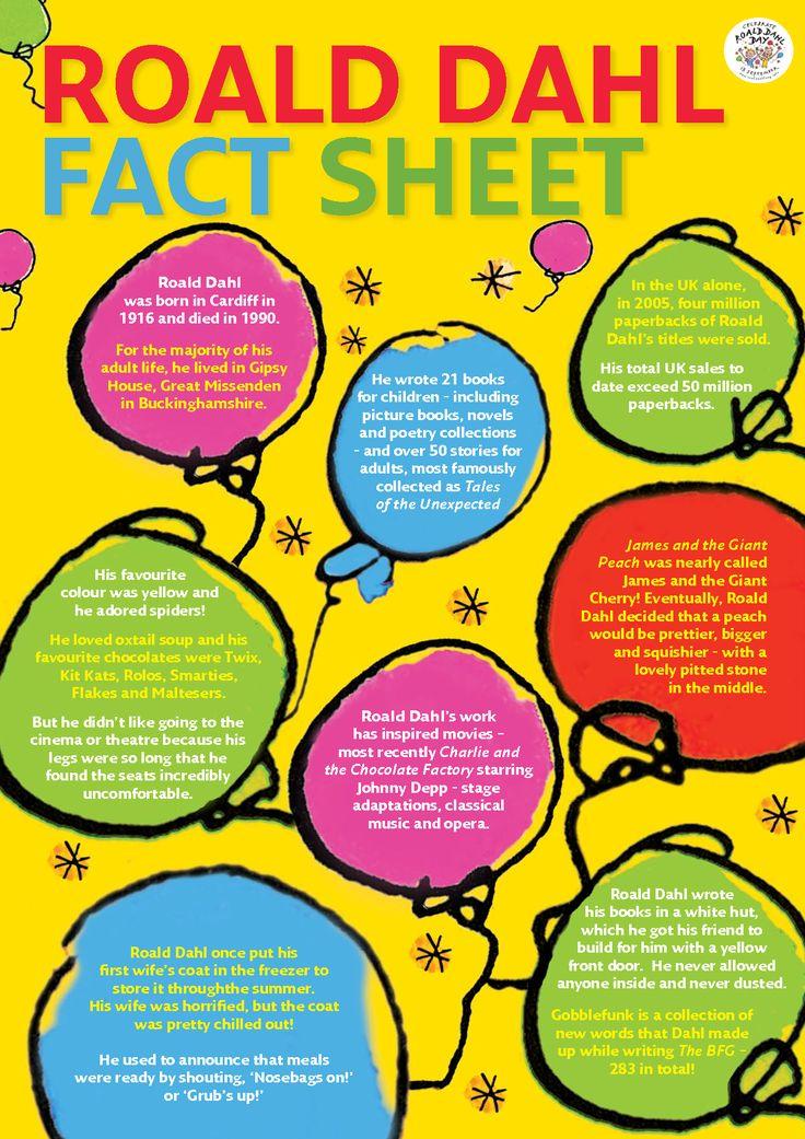 Roald Dahl Fact Sheet By Dox21414