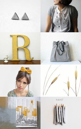 mustard grey by Stefania on Etsy--Pinned with TreasuryPin.com