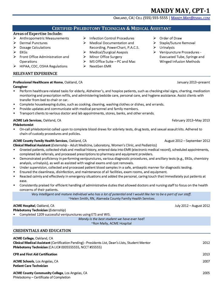 Certified phlebotomist technician resume resumesdesign