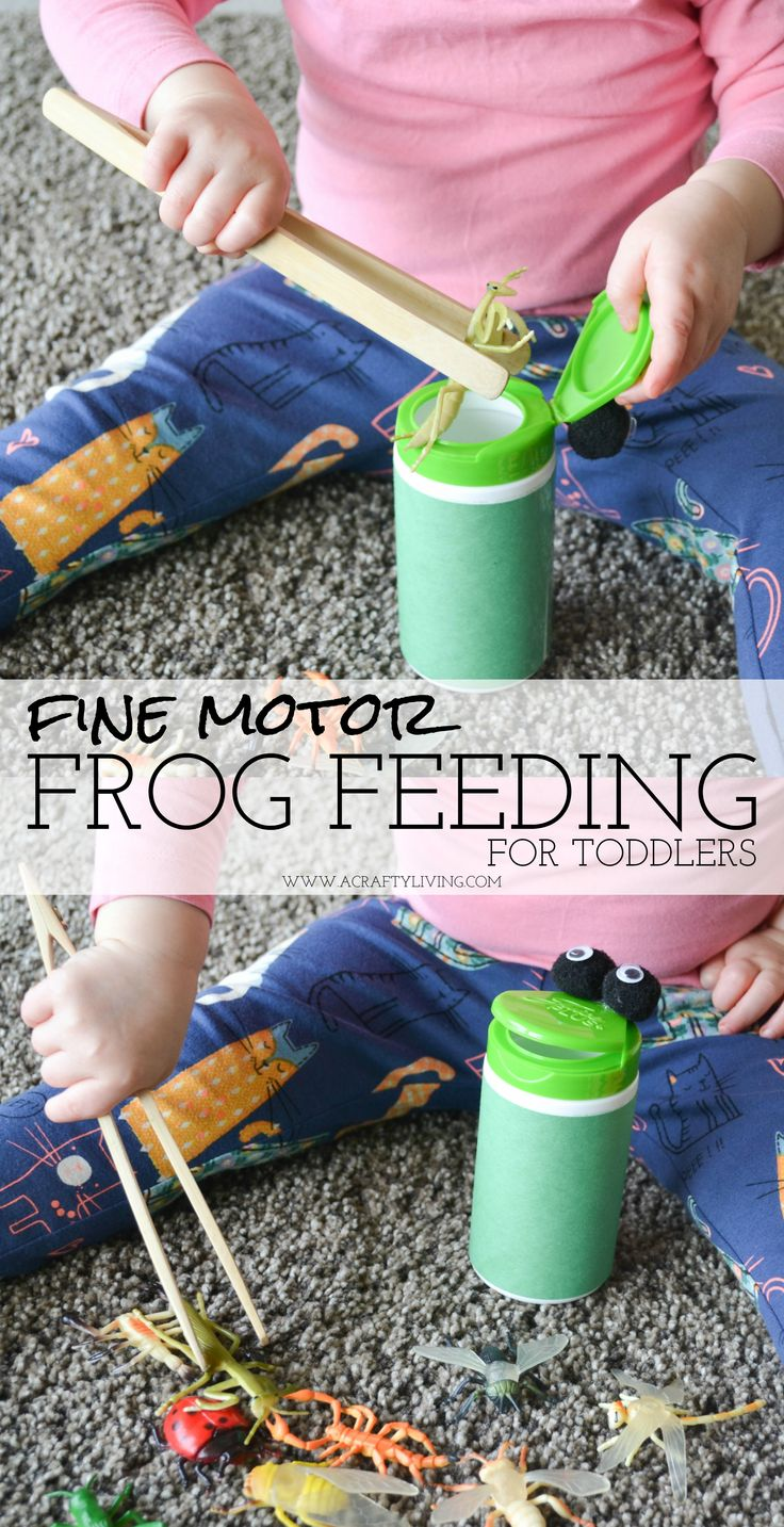 Inexpensive Activity for Toddlers (& Preschoolers) to strengthen hand muscles & develop Fine Motor skills! www.acraftyliving.com