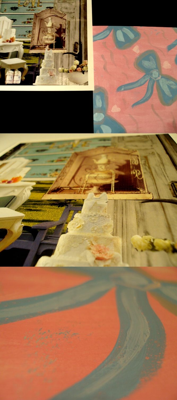 Schoolwork. Collage Romantic.