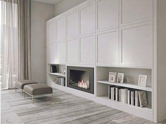 Деревянный система стена с подставкой для телевизора Aeterna |  Клей - Источник Главная Элеганс