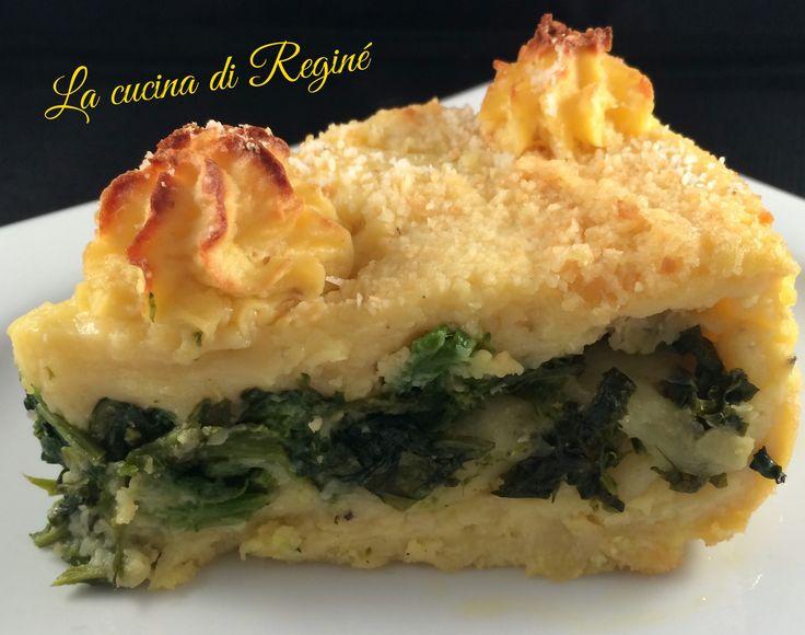 #Torta di patate ripiena di friarielli e provola# La cucina di Reginé