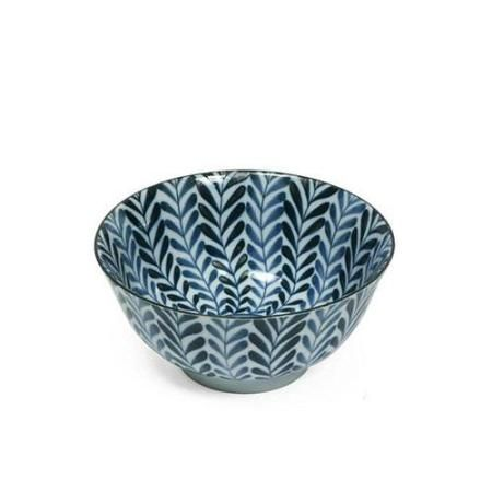 blue and white fern bowl, machine washable + dishwasher safe