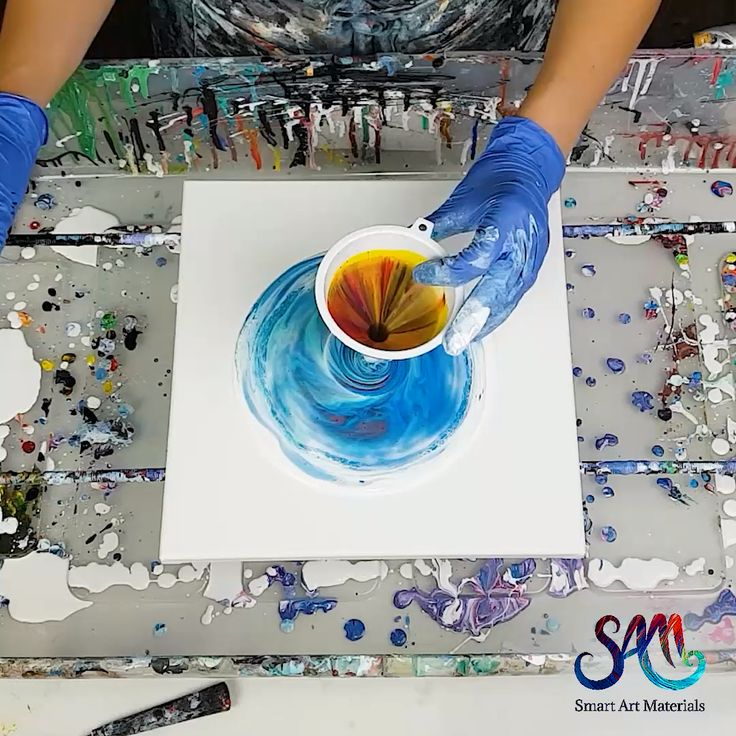 Funnel Acrylic Pour – no silicone!  Check out the link to see more ideas with fl…