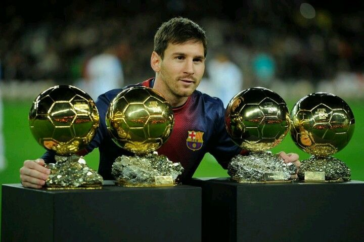 Messi with 4 golden ball's: four times the best football player in the WORLD!