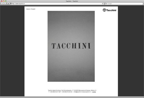B/M for Tacchini — website