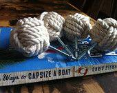 Nautica Decor - mio Cape Cod cassetto tira - Set di 2 nodoso cassetto tira e maniglie in cotone