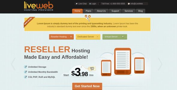 Deals LiveWeb - WordPress Web Hosting TemplateIn our offer link above you will see