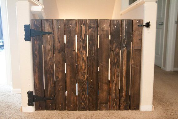 Barn Door Baby Gate. Good to keep the dogs in too! Super cute :) of I ever have a house with stairs!