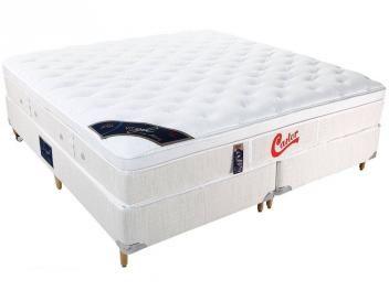 Cama Box (Box + Colchão) King Size Mola Pocket - 193x203cm - Castor Vitagel