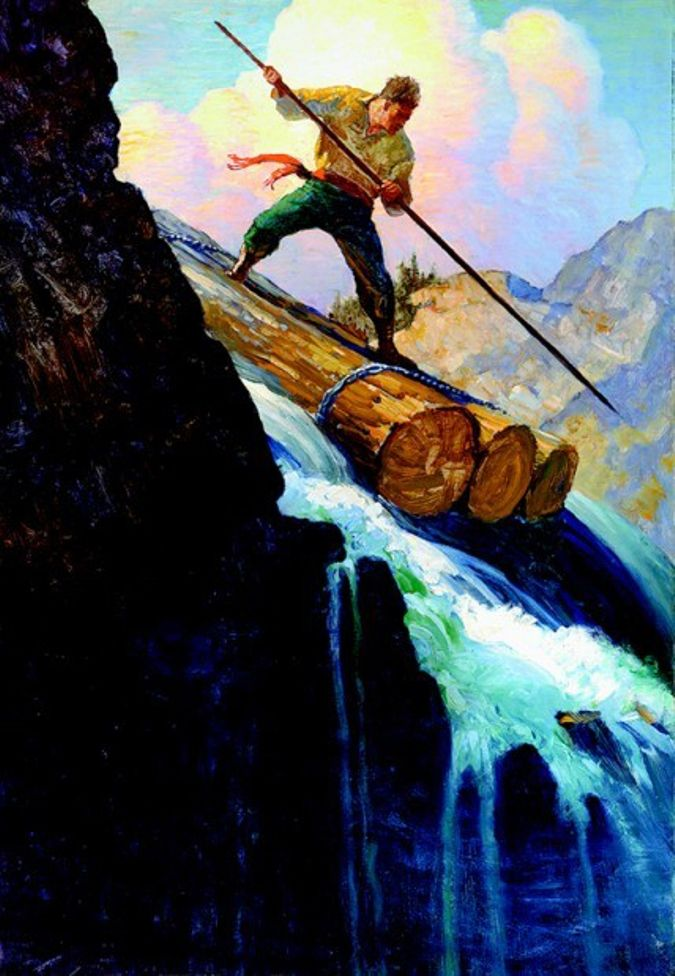 Octave Plunged by N.C. Wyeth 1920