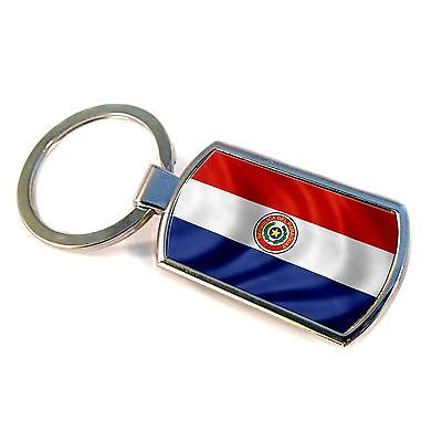 Premium Key Ring with Flag of Paraguay