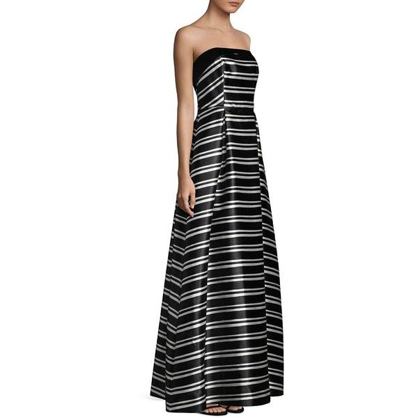 Laundry by Shelli Segal Striped Floor Length Ball Gown (£140