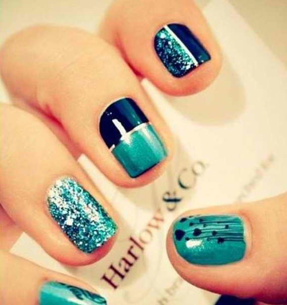Teal and Navy