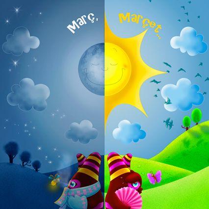 Març, marçet, que de dia fa calor i de nit fa fred.