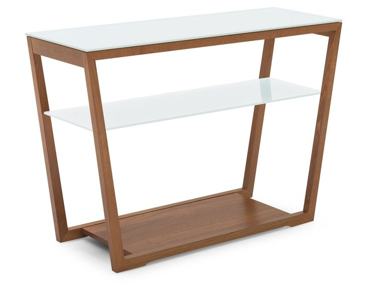 Element Console, wood & glass