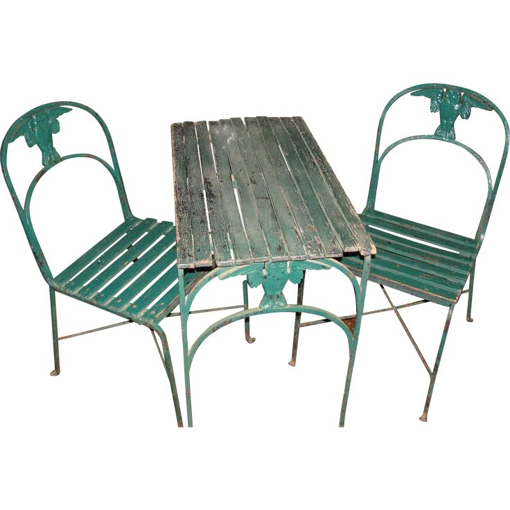 Garden Table And Chairs Part - 32: Antique Garden Table And Chairs By Morgan Colt Gothic Owls Arts And Crafts  Period