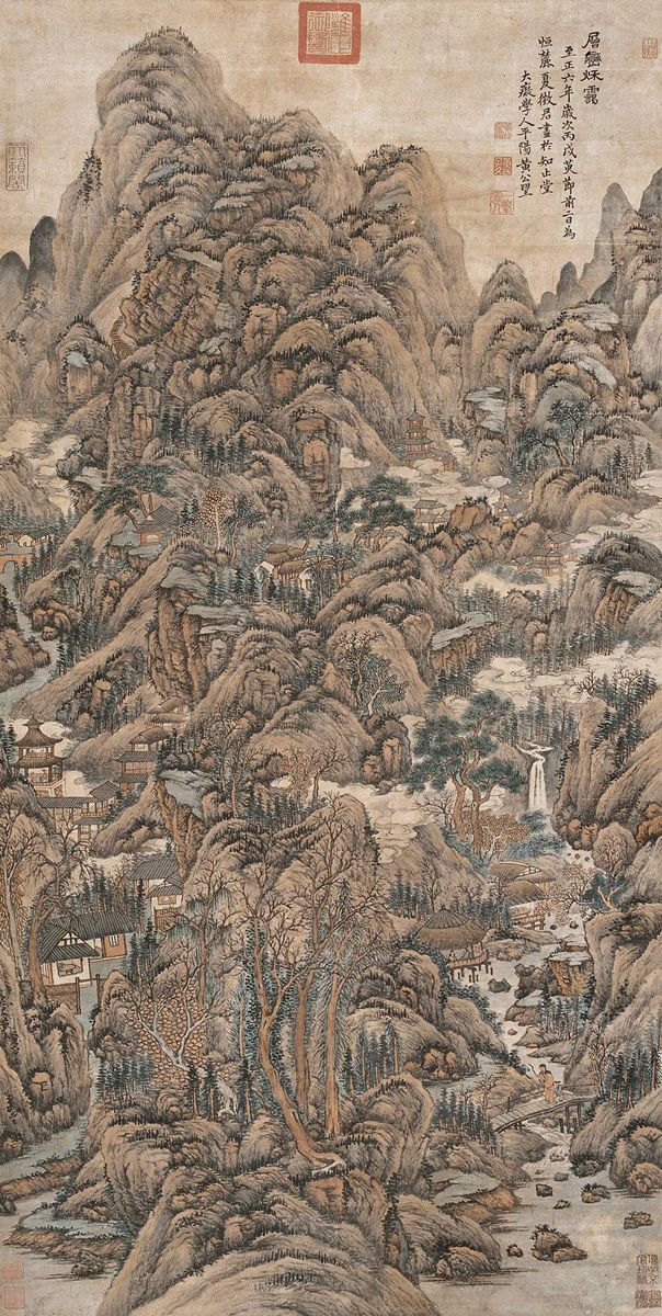 """thorsteinulf: """" Huang Gongwang - Autumn Clouds in Layered Mountains """""""